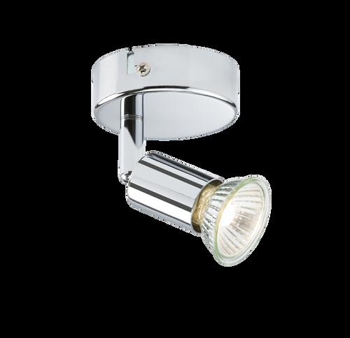 230V GU10 Single Spotlight - Chrome
