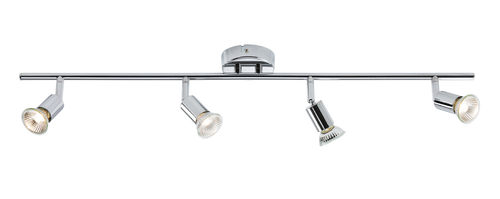 230V GU10 Quad Bar Spotlight - Chrome (DFL1NSPGU4C)
