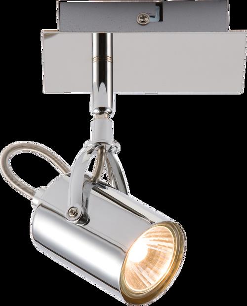 230V GU10 Single Chrome Spotlight