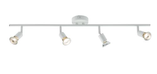 230V GU10 Quad Bar Spotlight - White