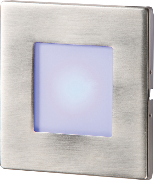 Stainless Steel Recessed LED Wall Light Single Blue (DFL1NH023B)