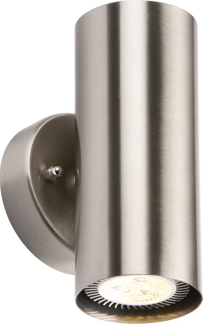 IP20 230V 2x35W max. GU10 Stainless Steel Wall Fixture (DFL1NH0183BD)