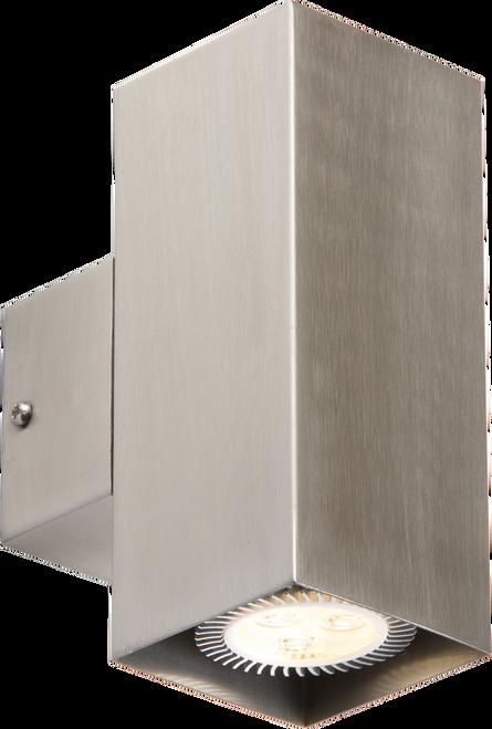 IP20 230V 2x35W max. GU10 Stainless Steel Wall Fixture (DFL1NH0184SQ)