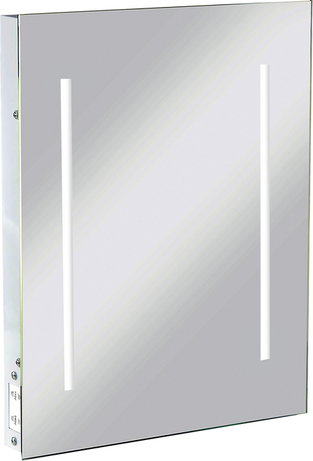 IP44 LED Rectangular Mirror with Dual Voltage Shaver Socket (DFL1RCTM2LED)