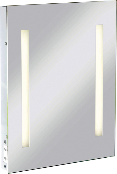 IP44 Rectangular Mirror with Dual Voltage Shaver Socket (DFL1RCTM2T8)