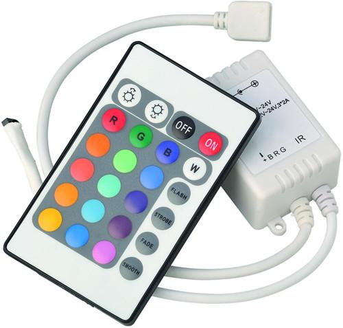 12V / 24V IR Controller and Remote - RGB (DFL1LEDFR4)