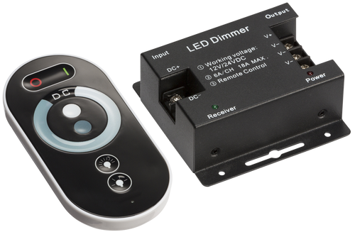 12V / 24V RF Controller and Touch Remote - Dimmer Single Colour (DFL1LEDFR7)