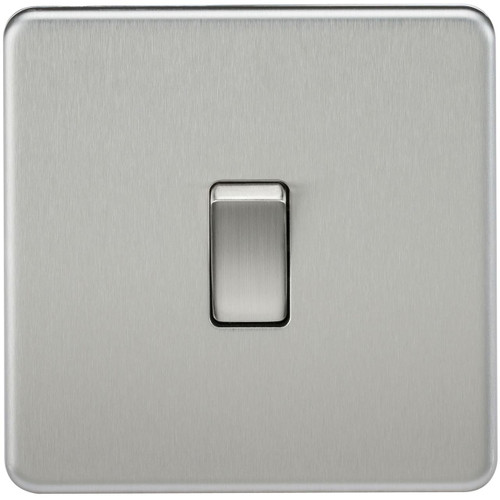 Screwless 10A 1G Intermediate Switch - Brushed Chrome (DFL1SF1200BC)