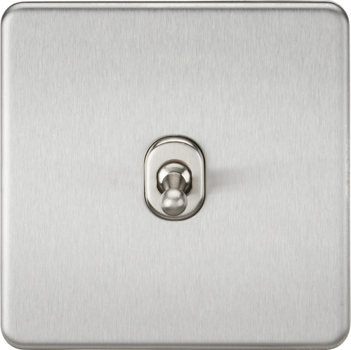 Screwless 10A 1G Intermediate Toggle Switch - Brushed Chrome (DFL1SF12TOGBC)