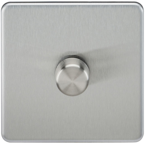 Screwless 1G 2-Way 10-200W (5-150W LED) Dimmer Switch - Brushed Chrome (DFL1SF2181BC)