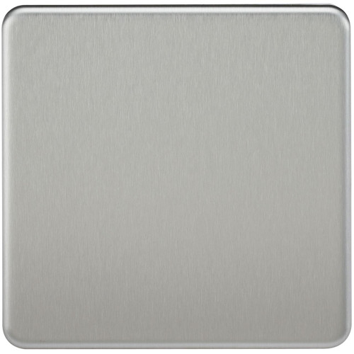 Screwless 1G Blanking Plate - Brushed Chrome (DFL1SF8350BC)