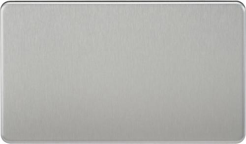 Screwless 2G Blanking Plate - Brushed Chrome (DFL1SF8360BC)