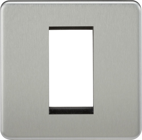 Screwless 1G Modular Faceplate - Brushed Chrome (DFL1SF1GBC)