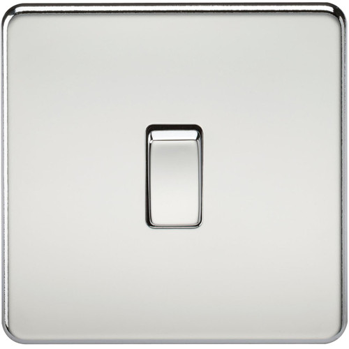 Screwless 10A 1G 2-Way Switch - Polished Chrome (DFL1SF2000PC)
