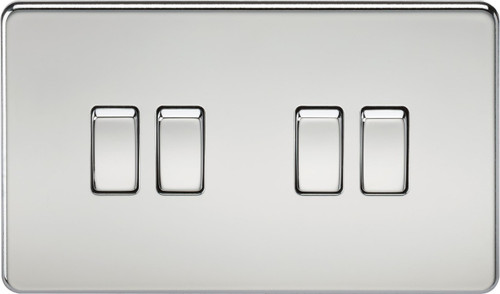 Screwless 10A 4G 2-Way Switch - Polished Chrome (DFL1SF4100PC)