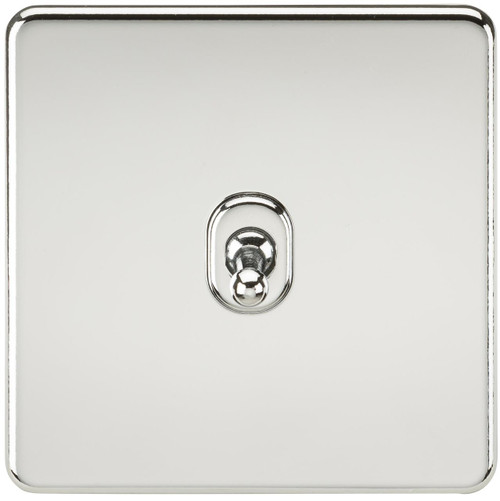 Screwless 10A 1G 2-Way Toggle Switch - Polished Chrome (DFL1SF1TOGPC)
