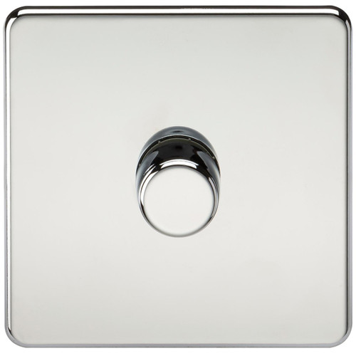 Screwless 1G 2-Way 10-200W (5-150W LED) Dimmer Switch - Polished Chrome (DFL1SF2181PC)