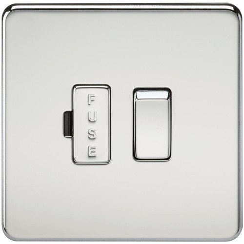 Screwless 13A Switched Fused Spur Unit - Polished Chrome (DFL1SF6300PC)