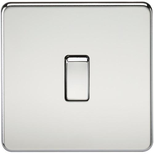 Screwless 20A 1G DP Switch - Polished Chrome (DFL1SF8341PC)
