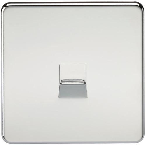Screwless Telephone Master Socket - Polished Chrome (DFL1SF7300PC)