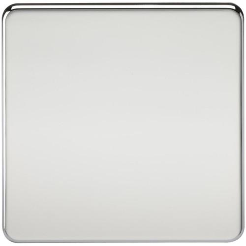 Screwless 1G Blanking Plate - Polished Chrome (DFL1SF8350PC)