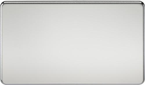 Screwless 2G Blanking Plate - Polished Chrome (DFL1SF8360PC)