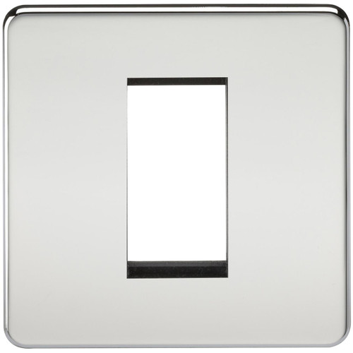 Screwless 1G Modular Faceplate - Polished Chrome (DFL1SF1GPC)