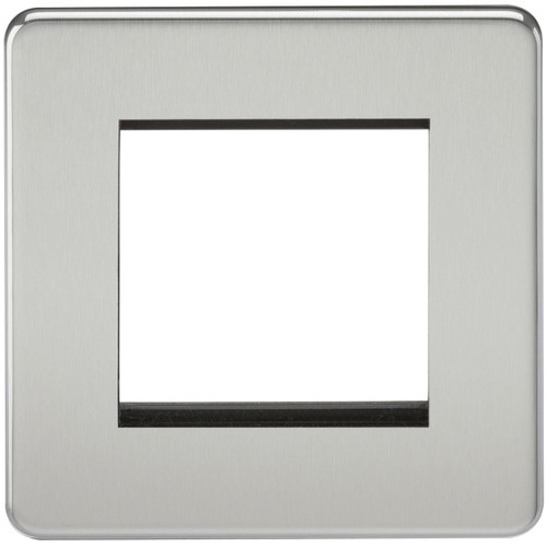 Screwless 2G modular faceplate - Polished Chrome (DFL1SF2GPC)