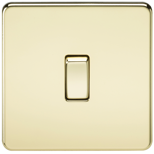 Screwless 10A 1G 2-Way Switch - Polished Brass (DFL1SF2000PB)
