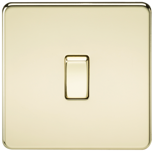 Screwless 10A 1G Intermediate Switch - Polished Brass (DFL1SF1200PB)