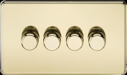 Screwless 4G 2-Way 60-400W Dimmer Switch - Polished Brass (DFL1SF2164PB)