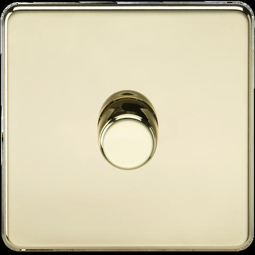 Screwless 1G 2-Way 10-200W (5-150W LED) Dimmer Switch - Polished Brass (DFL1SF2181PB)