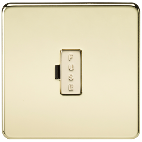 Screwless 13A Fused Spur Unit - Polished Brass (DFL1SF6000PB)