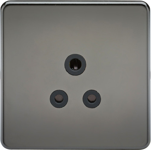 Screwless 5A Unswitched Socket - Black Nickel with Black Insert (DFL1SF5ABN)