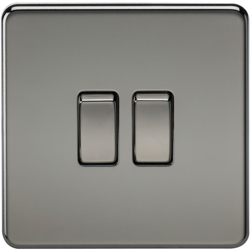 Screwless 10A 2G 2-Way Switch - Black Nickel (DFL1SF3000BN)