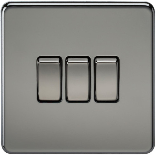 Screwless 10A 3G 2-Way Switch - Black Nickel (DFL1SF4000BN)