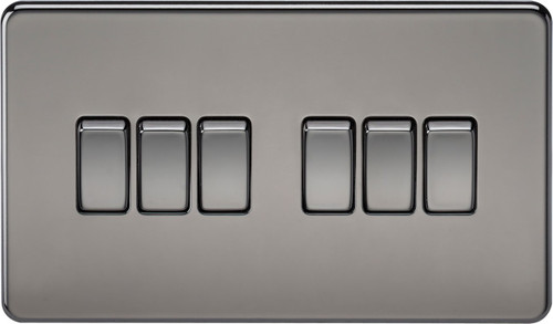 Screwless 10A 6G 2-Way Switch - Black Nickel (DFL1SF4200BN)