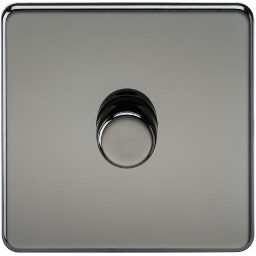 Screwless 1G 2-Way 10-200W (5-150W LED) Dimmer Switch - Black Nickel (DFL1SF2181BN)