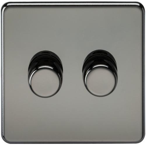 Screwless 2G 2-Way 10-200W (5-150W LED) Dimmer Switch - Black Nickel (DFL1SF2182BN)