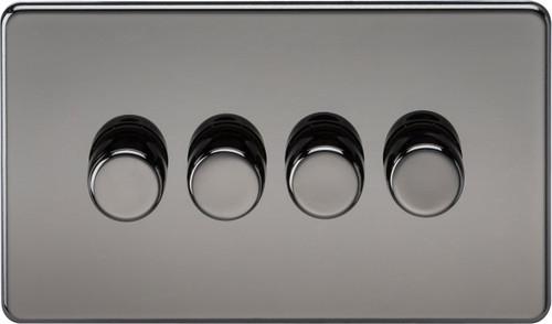 Screwless 4G 2-Way 10-200W (5-150W LED) Dimmer Switch - Black Nickel (DFL1SF2184BN)