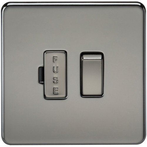 Screwless 13A Switched Fused Spur Unit - Black Nickel (DFL1SF6300BN)
