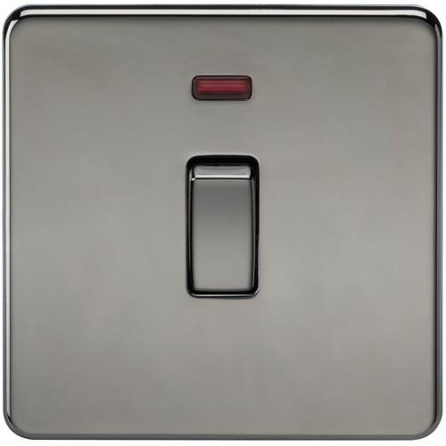 Screwless 20A 1G DP Switch with Neon - Black Nickel (DFL1SF8341NBN)