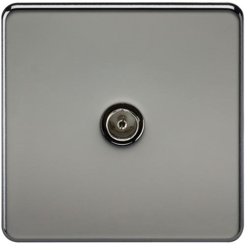 Screwless 1G TV Outlet (Non-Isolated) - Black Nickel (DFL1SF0100BN)