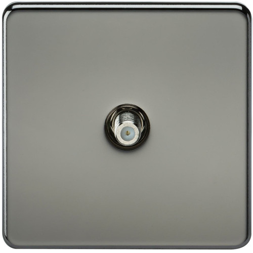 Screwless 1G SAT TV Outlet (Non-Isolated) - Black Nickel (DFL1SF0150BN)