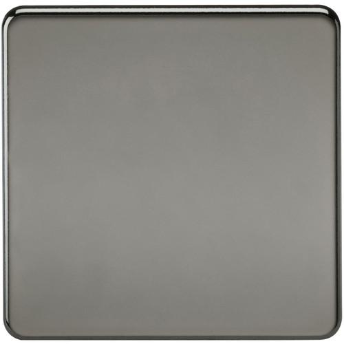 Screwless 1G Blanking Plate - Black Nickel (DFL1SF8350BN)