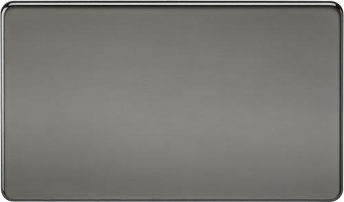 Screwless 2G Blanking Plate - Black Nickel (DFL1SF8360BN)