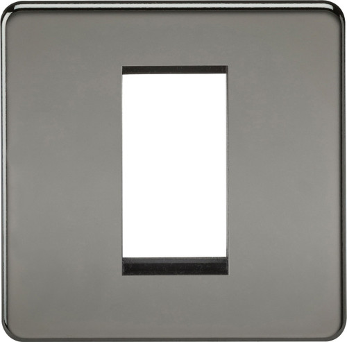 Screwless 1G Modular Faceplate - Black Nickel (DFL1SF1GBN)