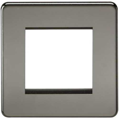 Screwless 2G modular faceplate - Black Nickel (DFL1SF2GBN)