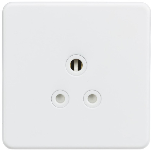 Screwless 5A Unswitched Socket - Matt White (DFL1SF5AMW)