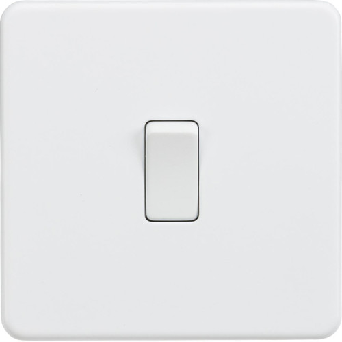 Screwless 10A 1G 2-Way Switch - Matt White (DFL1SF2000MW)
